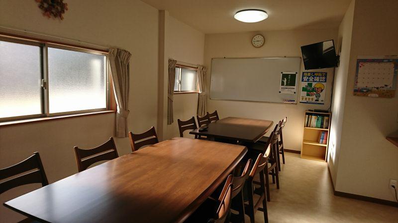 アイシン警備社員寮の食堂